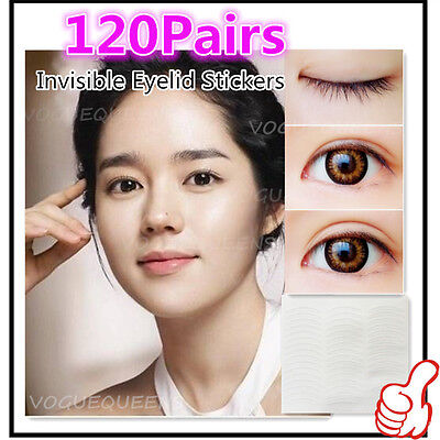NEW Popular 120 Pairs Invisible Breathable Technical Double Eyelid Tape Sticker