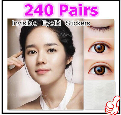 NEW Popular 240 Pairs Invisible Breathable Technical Double Eyelid Tape Sticker