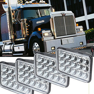 4pcs led headlights sealed High Low Beam Fit Western Star Heritage Constellation