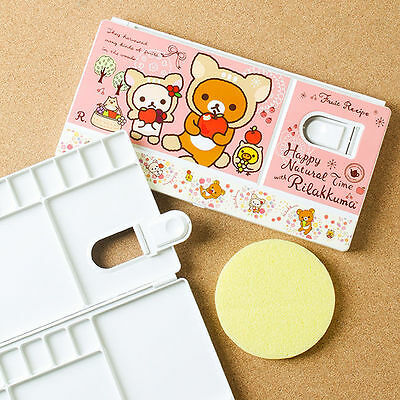 Art Paint Tray Artist Watercolor Plastic Palette Portable Rilakkuma Character