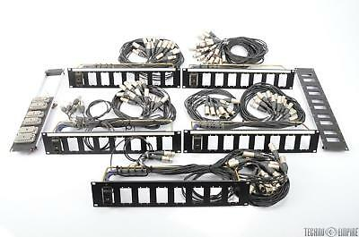 7 DL Connector & EDAC ELCO XLR Snake Studio Audio Patch Rack Panel Bundle #26740
