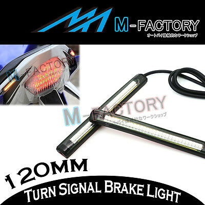 For Universal Buell Motorcycle Rear Brake Amber Indicator 12cm LED Light Strip