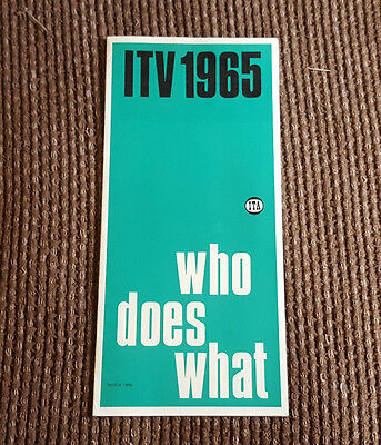 ITV 1965: Who Does What ITA Information card from 1965