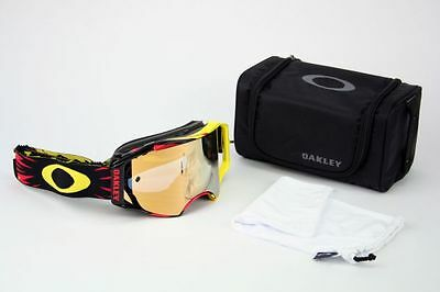 Oakley Airbrake MX High Voltage Red Yellow 24K Iridium OO7046-10 DH Enduro NEU