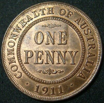 1911 Australian Penny - Uncirculated+