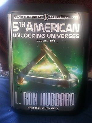 L. Ron Hubbard 5th AMERICAN UNLOCKING UNIVERSES Vol 1 (One) CD Lectures