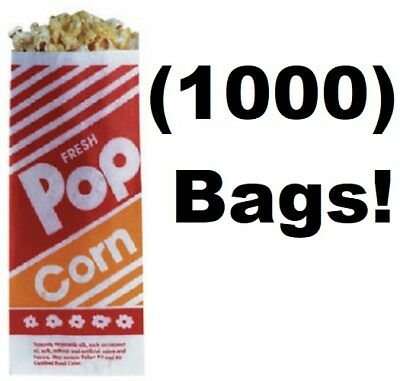 """1000 Count Gold Medal # 2053 1 Oz.  #3  3-1/2"""" x 2-1/4""""  x  8"""" Popcorn Bags"""