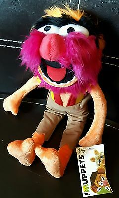 PELUCHES  MUPPET SHOW,ANIMAL,35cm,SESAME STREET,PUPAZZO ORIGINALE MUPPETS DISNEY
