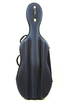 Petz Fiberglas 4/4 Celloetui Cello Case, m. Hartschaum-Nylonhülle,blau