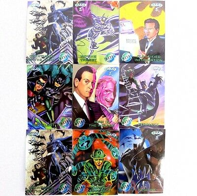 Vintage FLEER METAL Batman Forever Movie Trading Cards Set of 10 from 1995