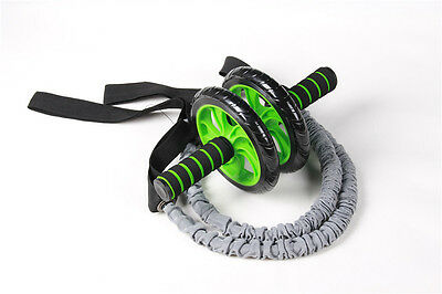 Hot 1 Pair Latex Fitness Exercise Stretch Pull Ropes Abdominal Wheel Accessories