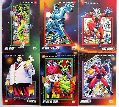 Vintage MARVEL Super Heroes Movie Trading/ Collection Cards Set of 6 from 1992