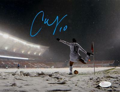 Carli Lloyd Autographed Team USA 8x10 In Snow Photo- JSA Witnessed Auth