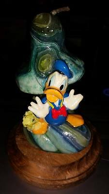 Vintage Hand Made Disney Donald Duck Mushroom Candle Brand New With Stand