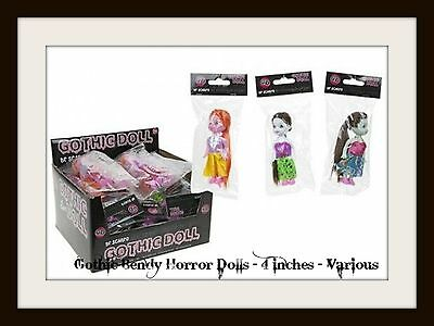 GOTHIC DOLLS Bendy Horror 4 inches Assorted Pagan Wicca Goth Gift Cult NEW