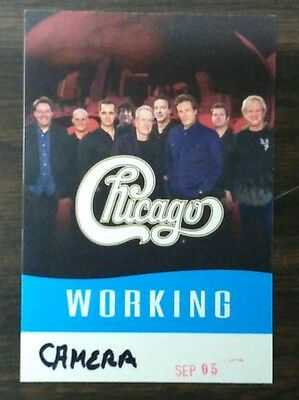 CHICAGO, 2016 tour,  working backstage pass, new and unused