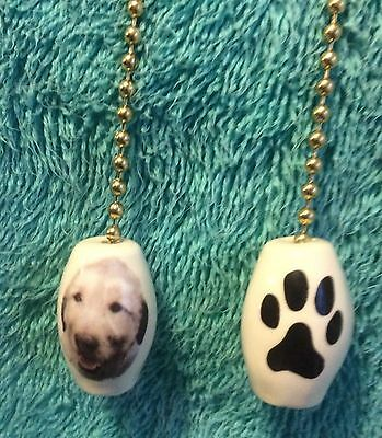 One Irish Wolfhound Dog Fan Pull With A Paw Print On The Back! 1-inch