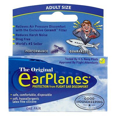 Flying EarPlanes Earplugs 1 Pair Adult size - Cirrus Healthcare Ear plugs