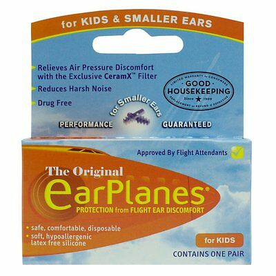 Flying EarPlanes Earplugs 1 Pair Kids size - Cirrus Healthcare Ear plugs