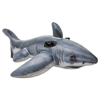 Intex Inflatable Great White Shark Rider Ride On Beach Toy Lilo Swim Pool Float