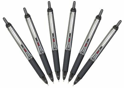 Pilot Precise V5 RT Retractable Rolling Ball Pen, Extra Fine Point, Black 6 Pens