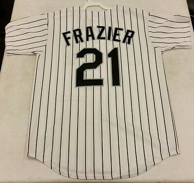 purchase cheap 4ed2a 91839 TODD FRAZIER MLB Majestic Chicago White Sox Cool Base Home ...