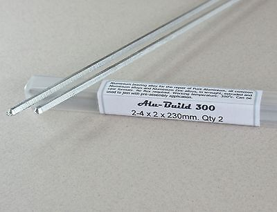 ALUMINIUM BRAZING SOLDER  Ultra low 300c  Ideal for repair and joining - 2 rods