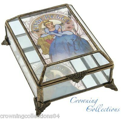 Disney Cinderella Art Nouveau Glass Jewelry Box The Art of The Disney Princess