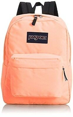 JanSport SuperBreak Coral Peaches BOOK BAG BACKPACK 100% AUTHENTIC New With Tag