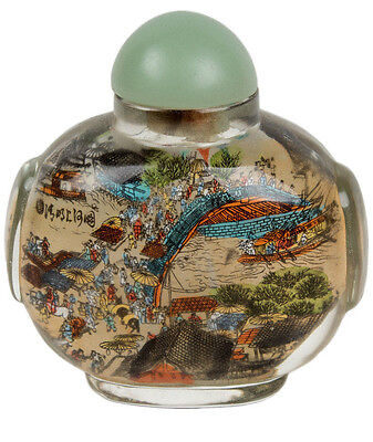 China 20. Jh. Neihua - A Chinese Glass Snuff Bottle - Tabatieré Chinois Cinese