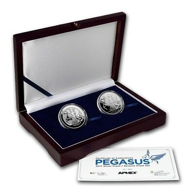 2017 1 oz Silver Pegasus Proof/Reverse Proof Silver 2-Coin Set