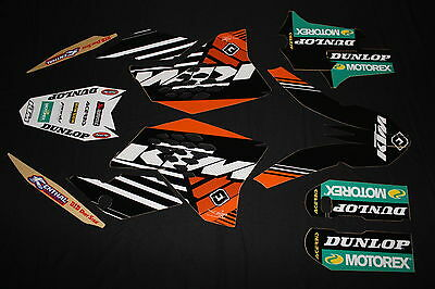 Ktm 2007-2010 Sx Sxf Exc Factory Mx Graphics Decals Kit Stickers