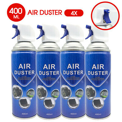 4x Air Duster Compressed Cleaner Can Spray 400ml Laptop PC Keyboard Camera Lens