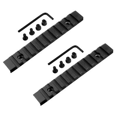 Keymod 2 PCS 13 Slot 5 inch Picatinny Weaver Rail Section for Handguards