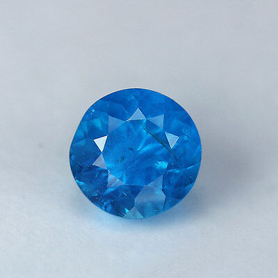 1.13 cts-Round Cut-Natural-Neon Blue-Apatite-G632