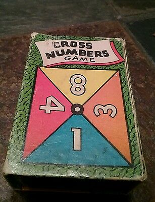 Vintage Cross Numbers Card Game Orig Box Russell Mfg Co