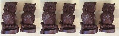 pair of  small cute owls figurines for decoration