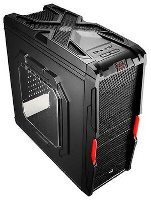 Aerocool Strike-X Coupe Mid Tower with Window - Red Fan Desktop Computer Case