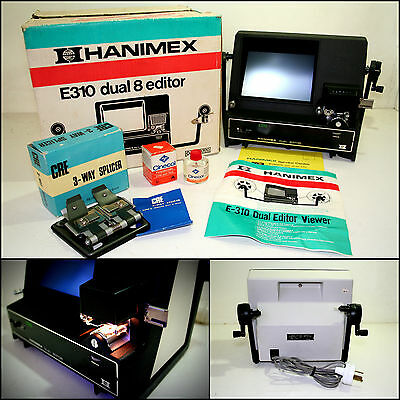 HANIMEX E310 8mm Editor Viewer with 3-Way 8mm & 16mm Splicer