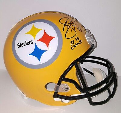 Troy Polamalu Autographed Signed Steelers Gold Full Size Helmet w/2X SB Champs