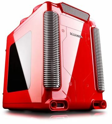 DeepCool Steam Castle Red Micro ATX Desktop Computer Case with Window