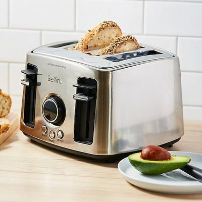 NEW Bellini 4 Slice Count Down Toaster - BTT780