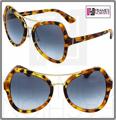 afb2decd5ba4 PRADA SOFT POP EVOLUTION Sunglasses 18S Spotted Brown Havana Blue PR18SS