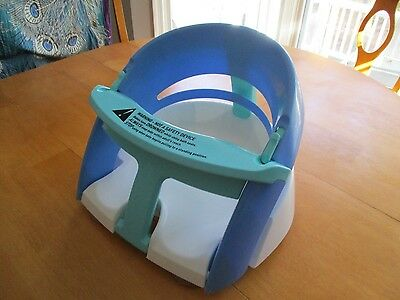Dream Baby Safety Infant Bath Seat Blue White Tub Chair Ring
