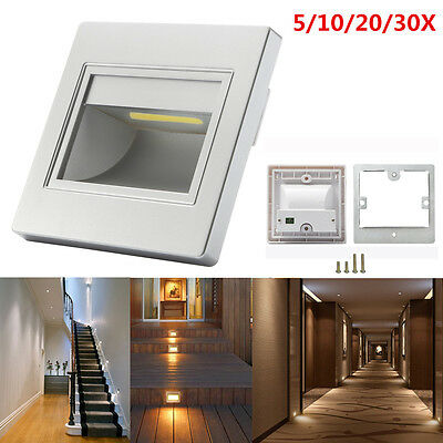 5/10/20/30X Warm White 2.5W LED Stair Step Hall Wall Recessed Corner Lights Lamp