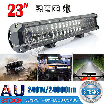 "23inch 240W Philips LED Work Light Bar Flood Spot Combo Offroad 4x4 ATV 24"" Lamp"