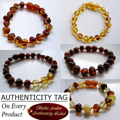 BALTIC AMBER BABY CHILD BRACELET ANKLET gift necklace bead
