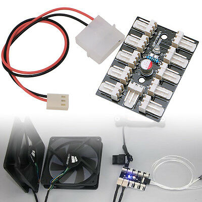 10-Way PWM Fan Hub 3-Pin CPU PC Host Game Case Water Cooling Splitter Adapter