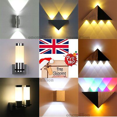 Modern LED Wall Light Indoor Up & Down Lighting 1 3 W Sconce Lamp 3 Color Lights