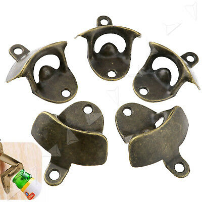 5 X Rust Prevent Wall Mount Mounted Bar Wine Beer Cap Bottle Open Opener